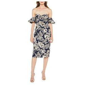 Bardot ABT Floral Casey Dress In Navy